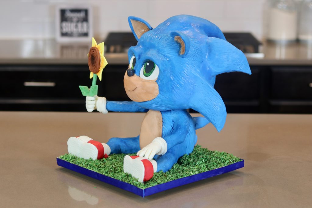Baby Sonic The Hedgehog Cake